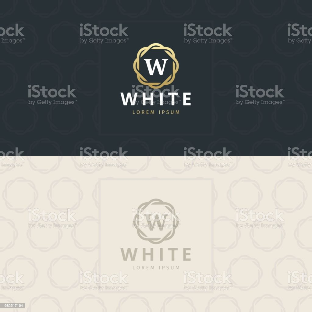 W Letter icon, Icon with pattern. vector element royalty-free w letter icon icon with pattern vector element stock vector art & more images of abstract