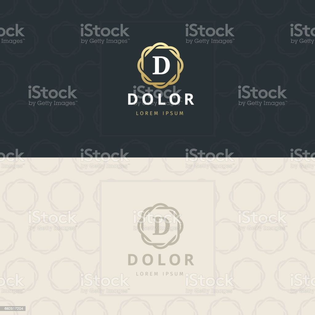 D Letter icon, Icon with pattern. vector element royalty-free d letter icon icon with pattern vector element stock vector art & more images of abstract