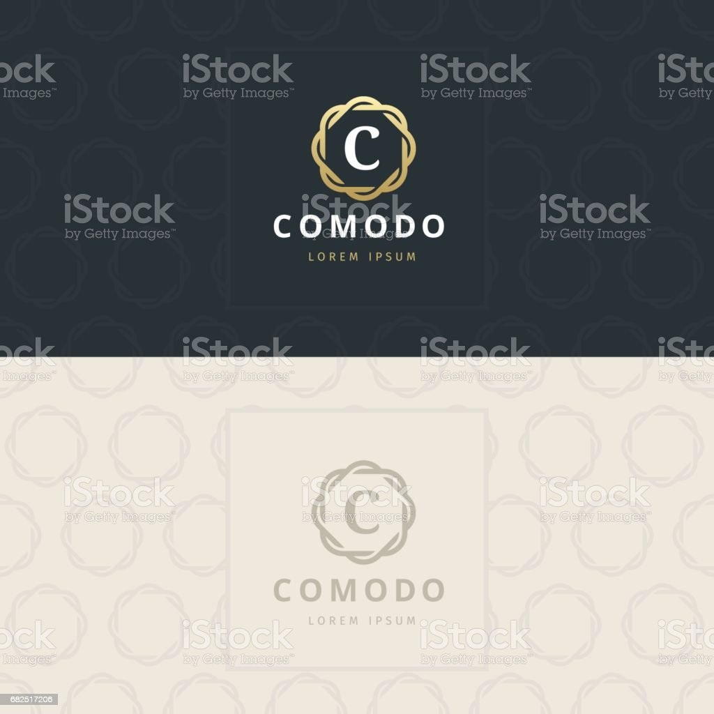 C Letter icon, Icon with pattern. vector element royalty-free c letter icon icon with pattern vector element stock vector art & more images of abstract
