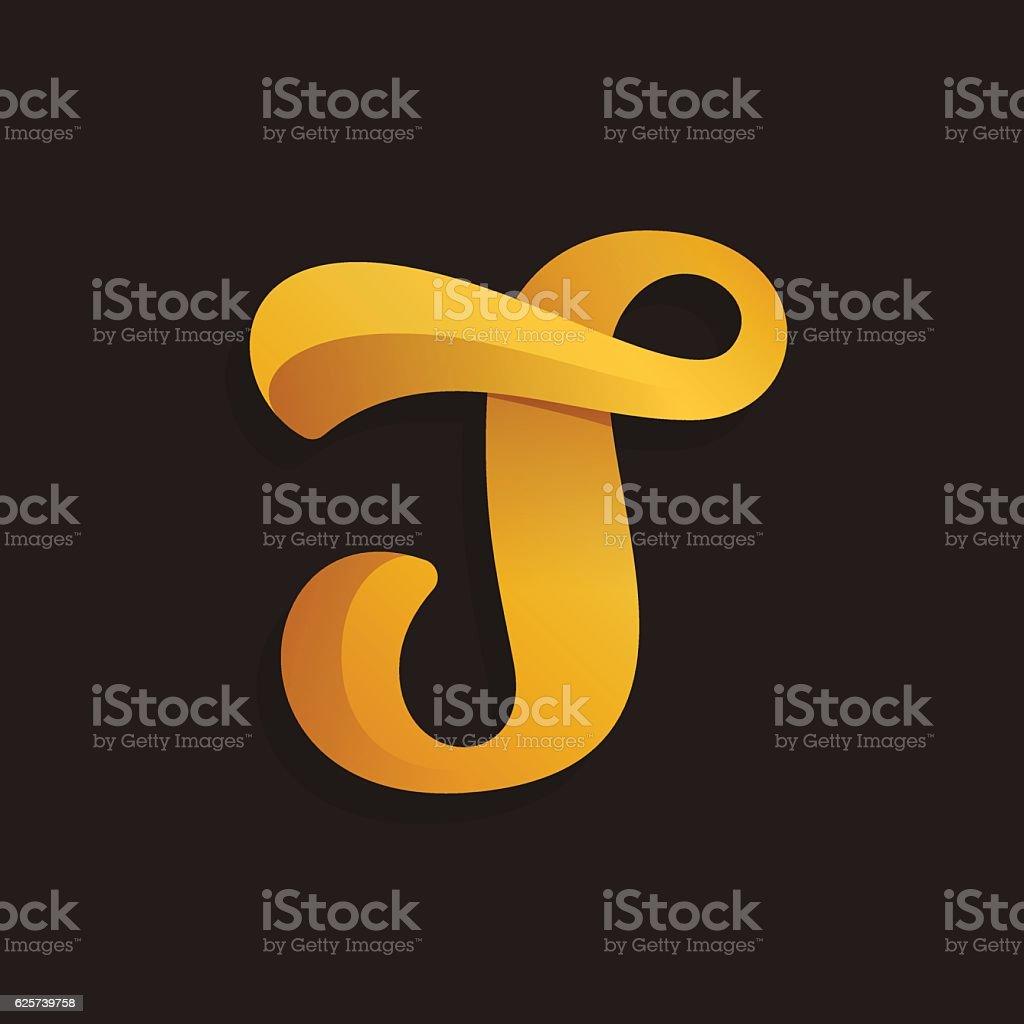 Royalty Free Fancy Letter T Clip Art Vector Images Illustrations