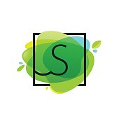 Green art background. Vector ecology typography for your logo, posters, invitations, cards.