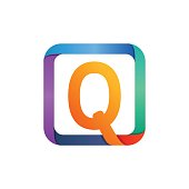 Q letter icon in square.