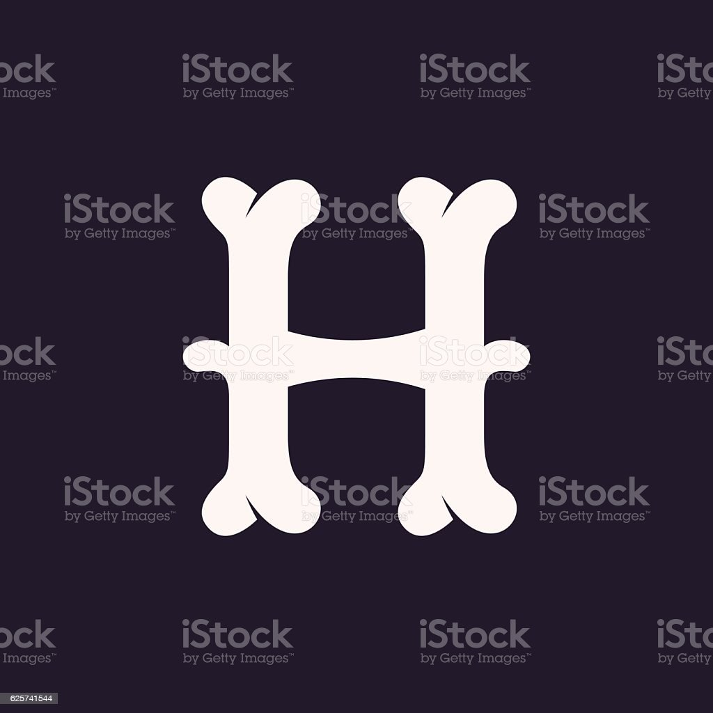 H letter icon made out of bones stock vector art more images of h letter icon made out of bones royalty free h letter icon made out thecheapjerseys