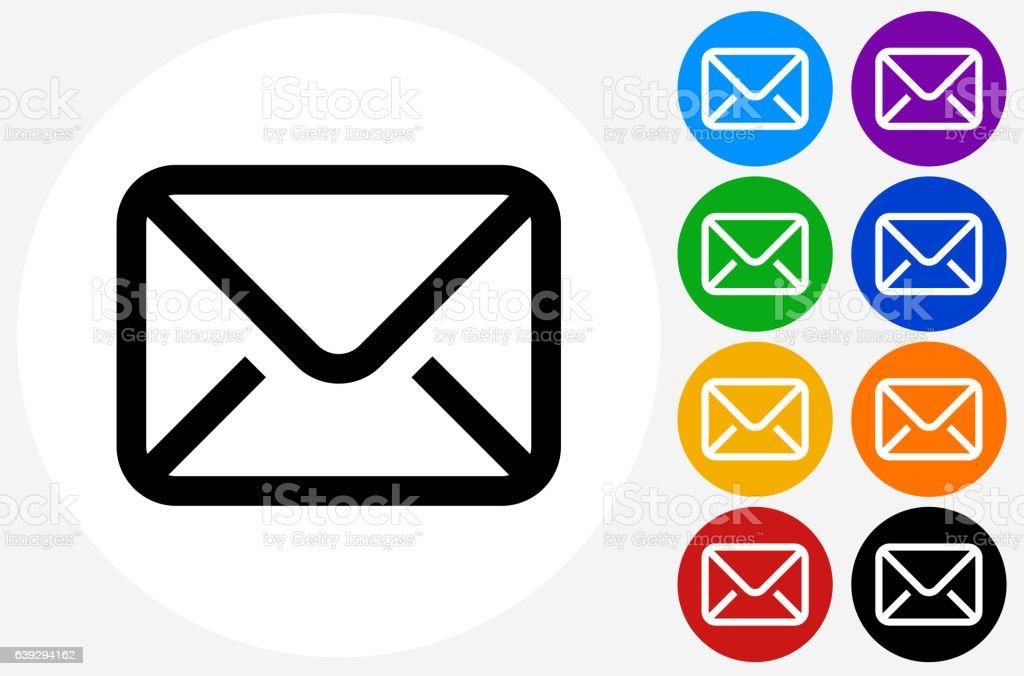Letter Icon on Flat Color Circle Buttons Lizenzfreies letter icon on flat color circle buttons stock vektor art und mehr bilder von biegung