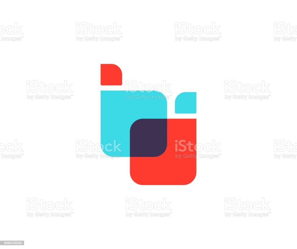 B letter icon vector art illustration