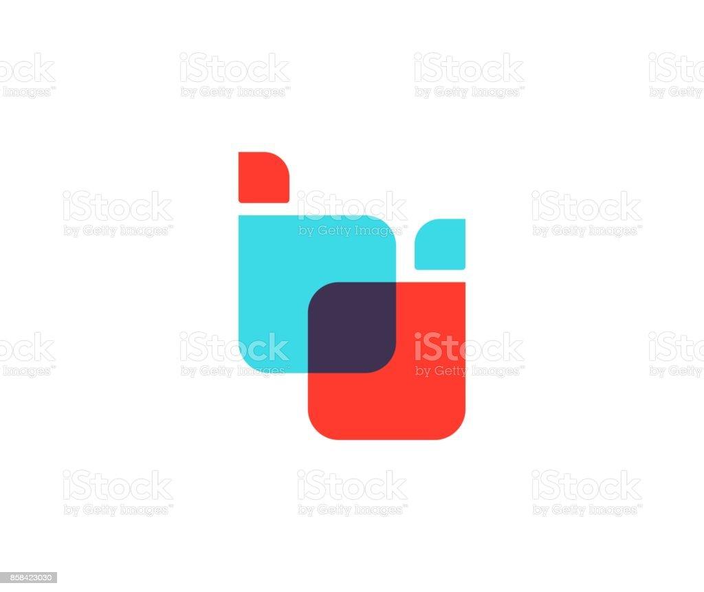B Buchstaben Symbol – Vektorgrafik