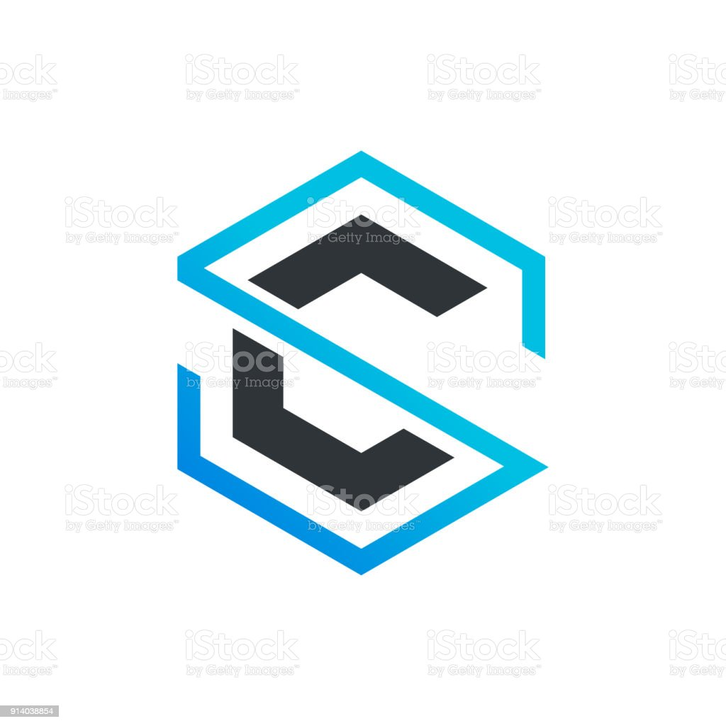 Sc Letter Icon Stock Illustration Download Image Now Istock