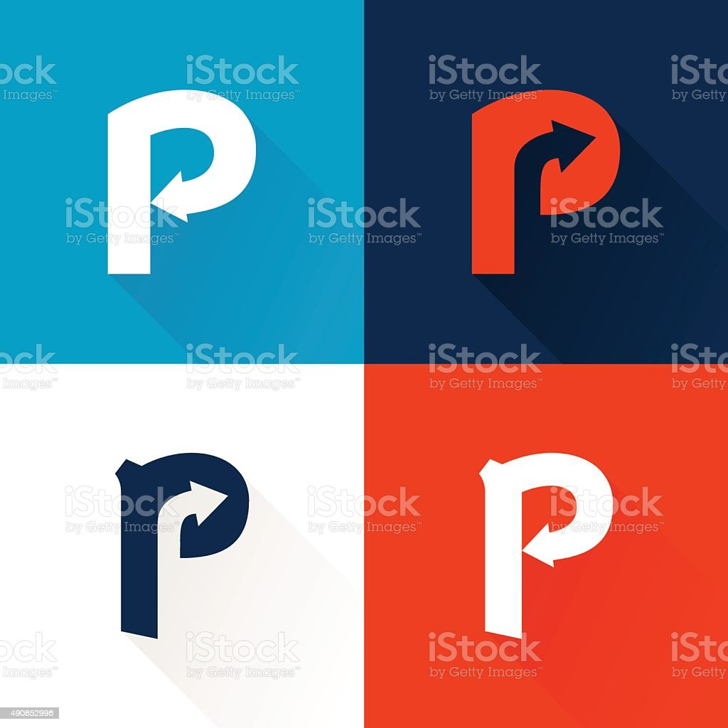 P letter icon with arrows set stock vector art more images of p letter icon with arrows set royalty free p letter icon with arrows set biocorpaavc