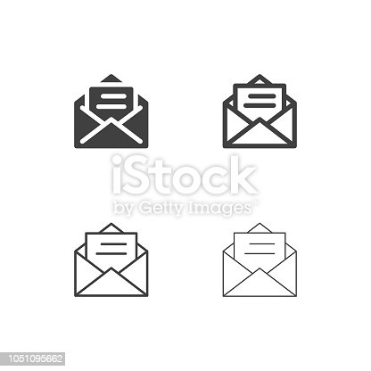 Letter Icons Multi Series Vector EPS File.