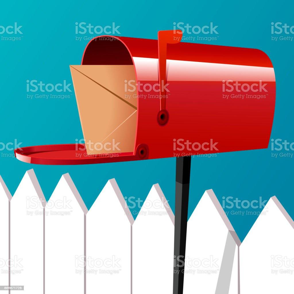 Brief im Postfach – Vektorgrafik