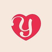 S Letter Inside Heart For St Valentines Day Design Stock Vector Art