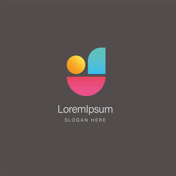 Letter J abstract colorful logo design template Vector illustration letter j stock illustrations