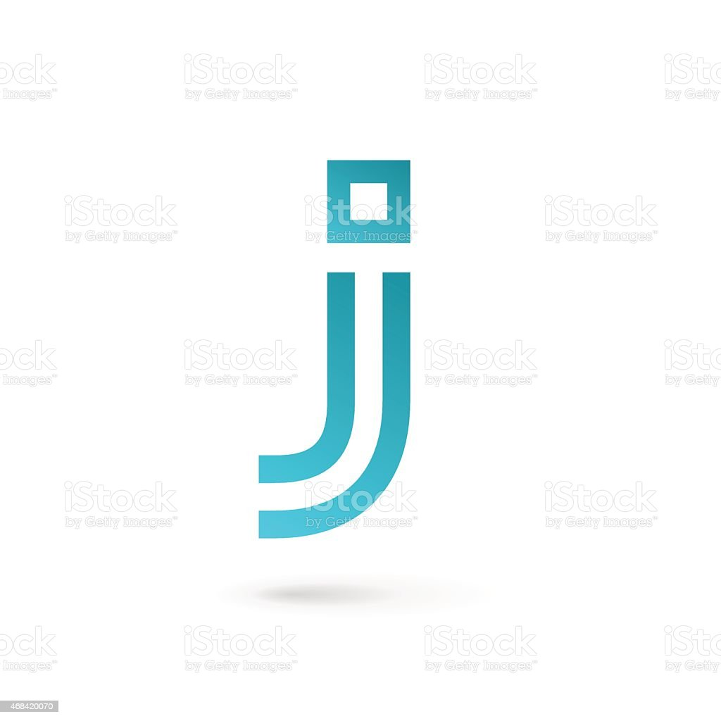 Letter J icon vector art illustration