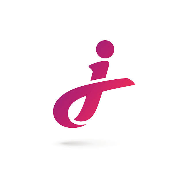 Letter J icon Letter J icon design template elements letter j stock illustrations