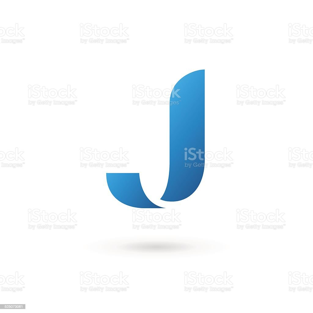 Delicieux Letter J Icon Vector Art Illustration