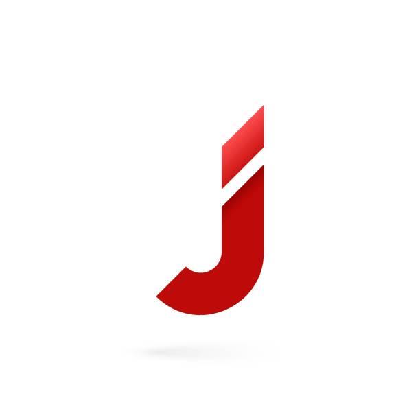 Letter J logo on white alphabet background Letter J logo on white background 10 eps letter j stock illustrations