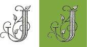 Letter J - Original Decorative TypeFace, monogram