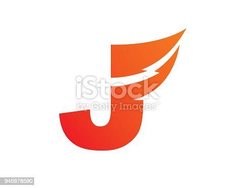 Letter J Template Design Vector Emblem Design Concept Icon Symbol