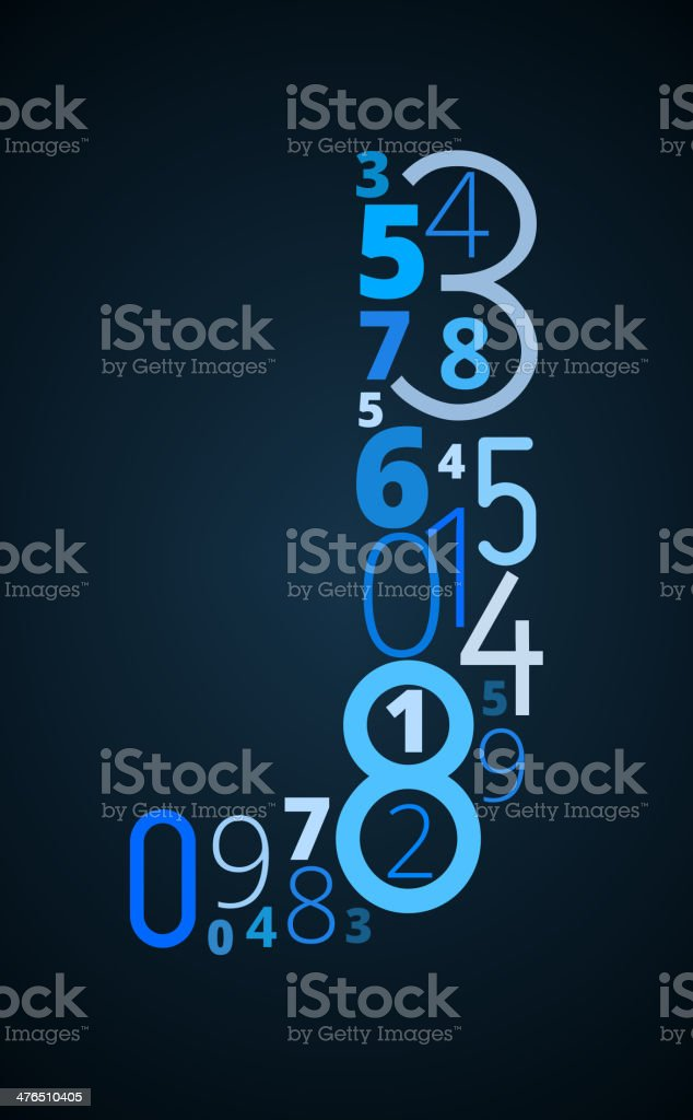 Letter J, vector font from numbers royalty-free letter j vector font from numbers stock vector art & more images of abstract