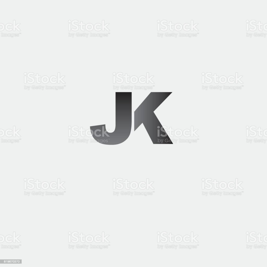 letter JK element design vector art illustration