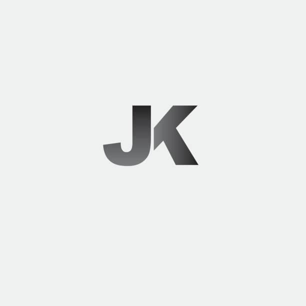 letter JK element design Scalable and editable color file (Vector .eps) letter j stock illustrations
