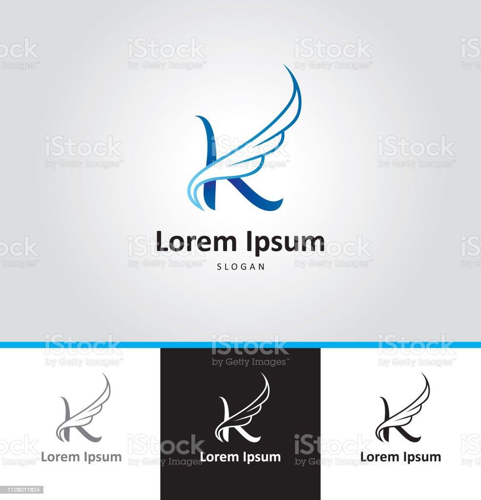 Letter K Capital Letter Minimalism Stock Illustration