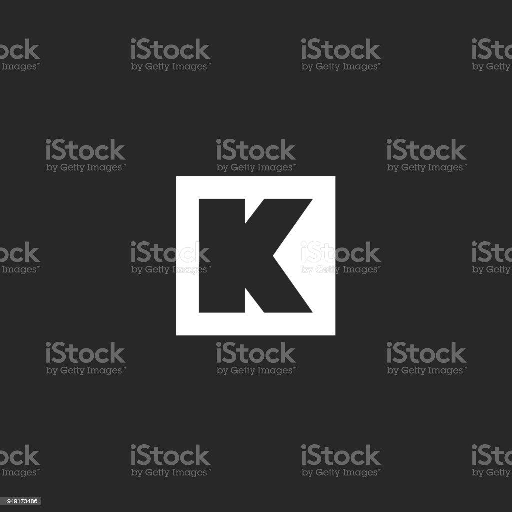Ilustración de Forma Geométrica De Letra K Icono Monogram Marco ...
