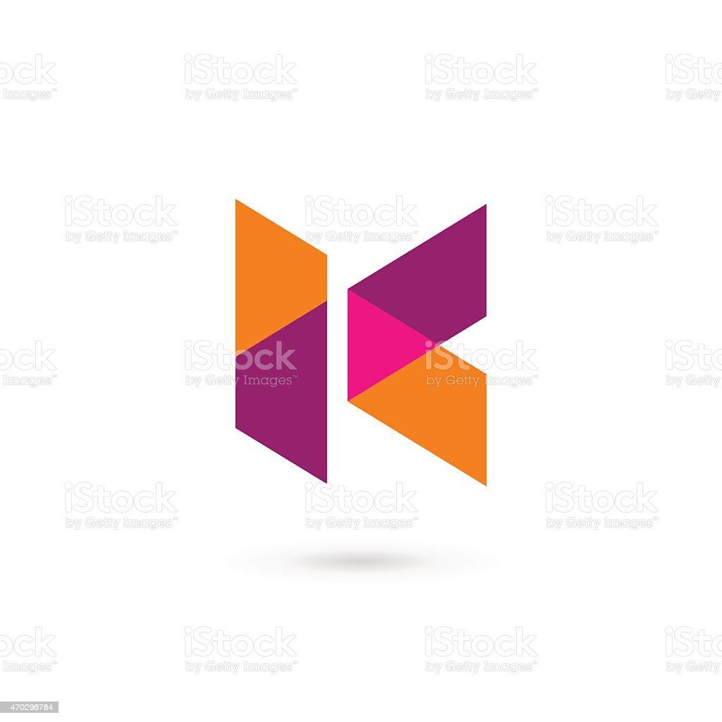 Letter K icon vector art illustration