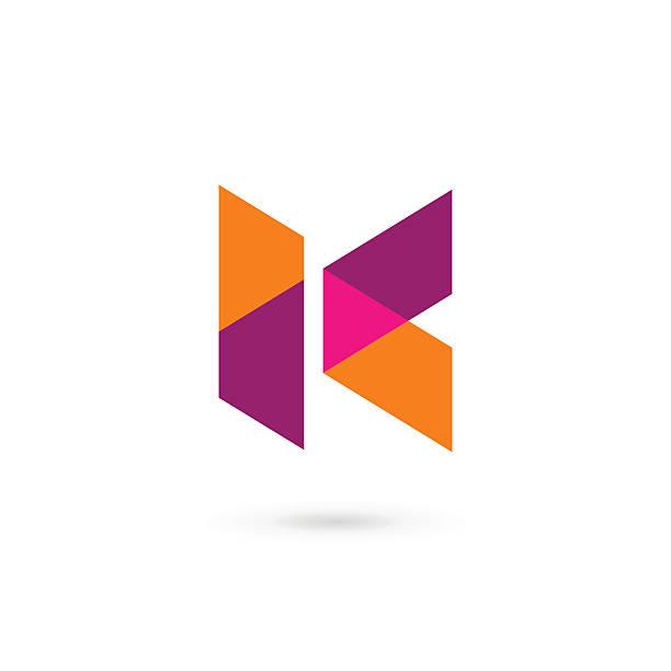 Letter K icon Letter K icon design template elements letter k stock illustrations