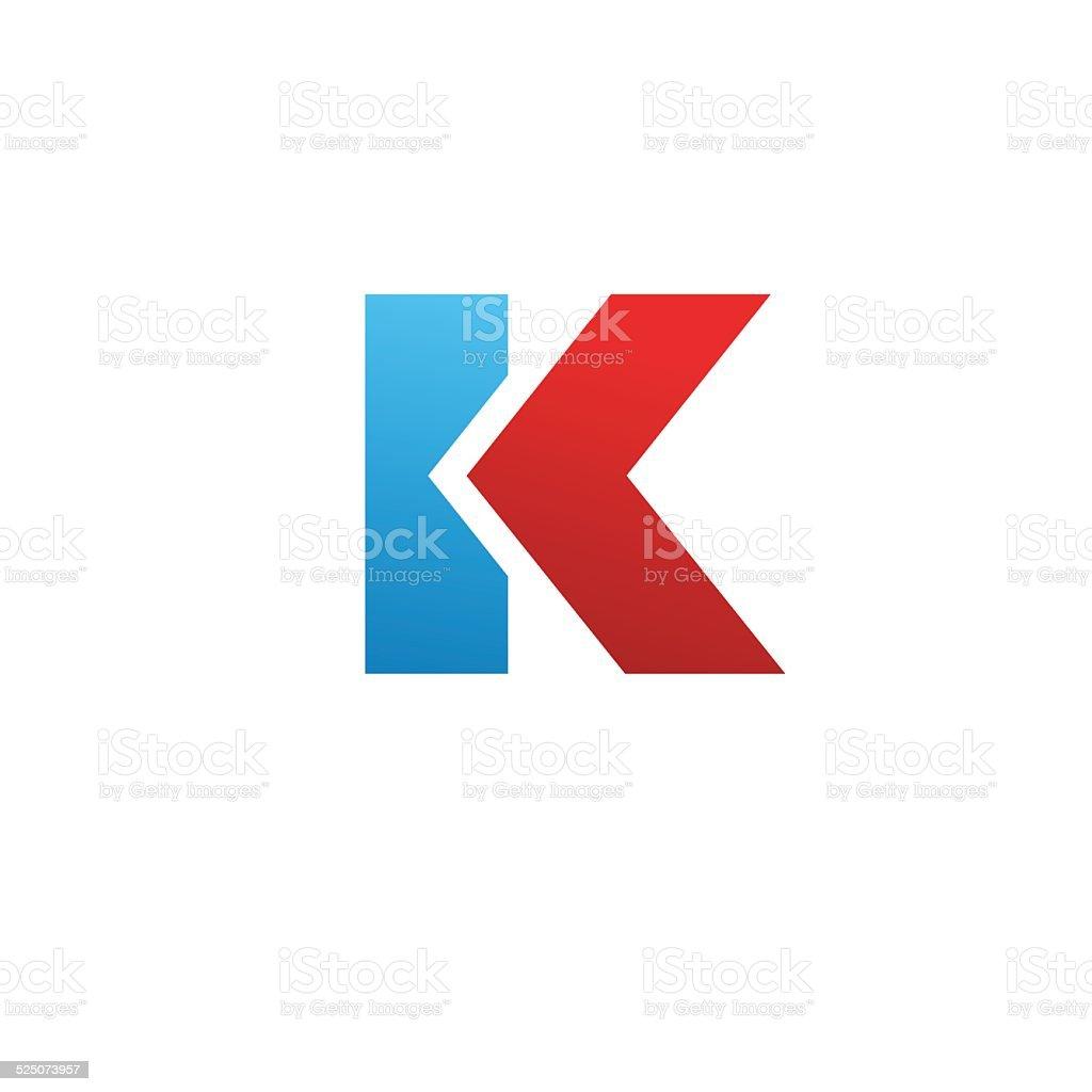 レター k エンブレムデザインテンプレート要素のアイコン アイコンの
