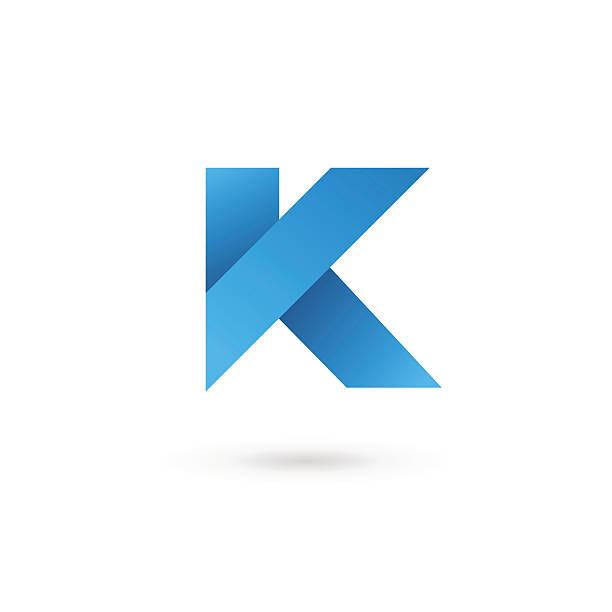 Letter K icon Letter K emblem icon design template elements. Vector color sign. letter k stock illustrations