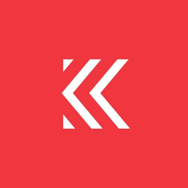 Grafika Wektorowa Ikony Ilustracje Litera K Na Licencji Royalty