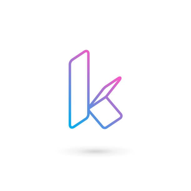 Letter K icon Letter K icon letter k stock illustrations