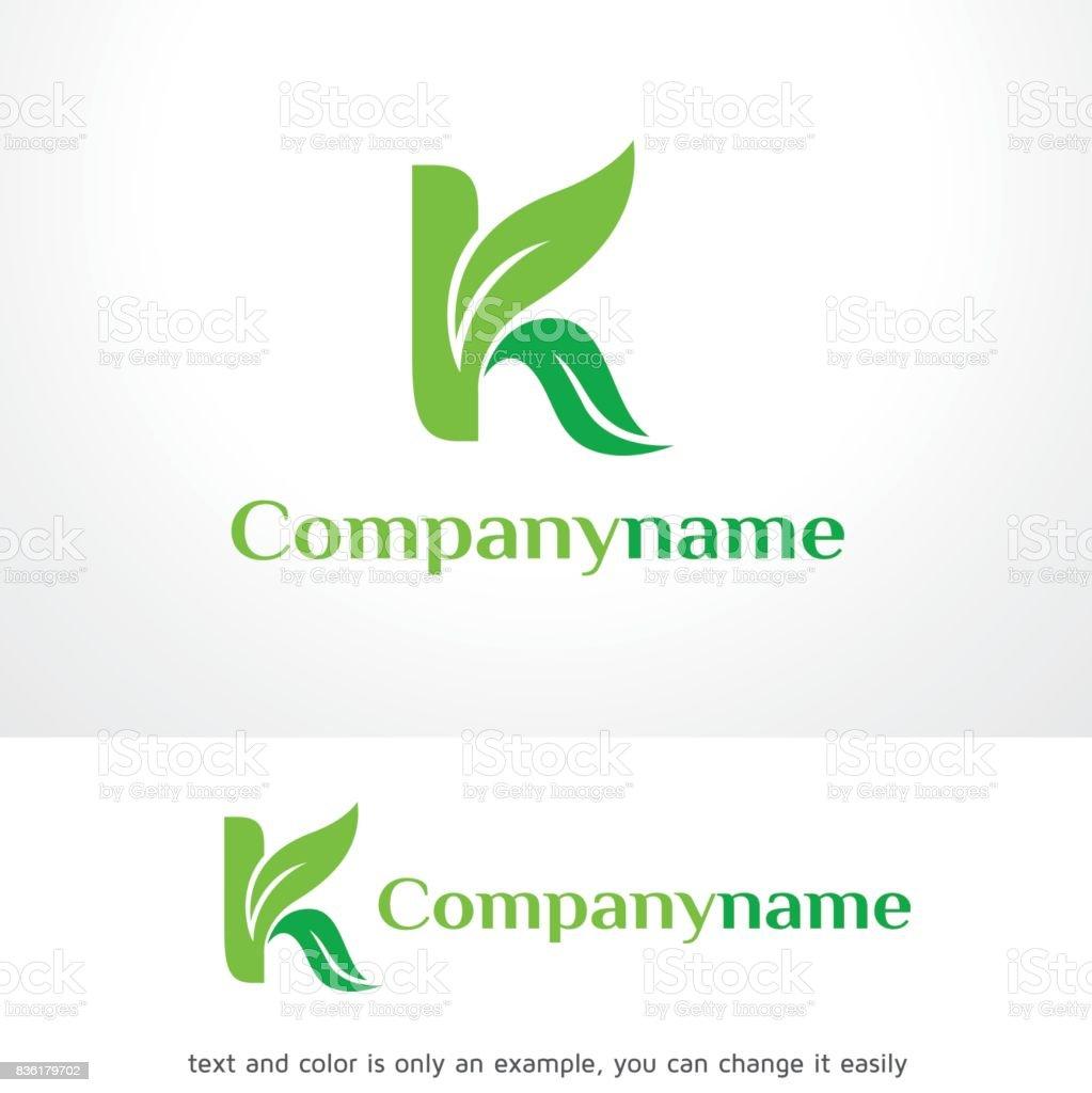 Letter K Leaf Symbol Template Design Vector Emblem Design Concept