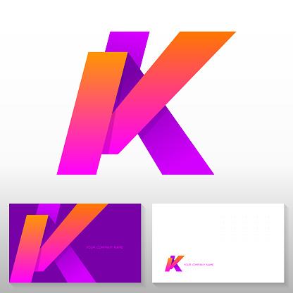 Letter k logo design – Abstract vector emblem.