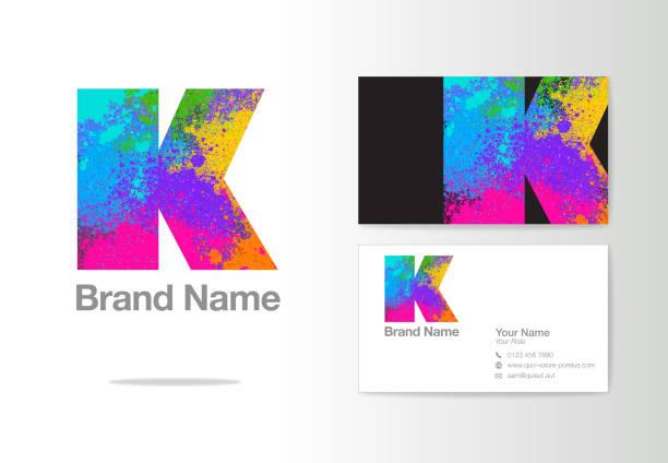 letter k logo design or corporate identity - k logo stock illustrations