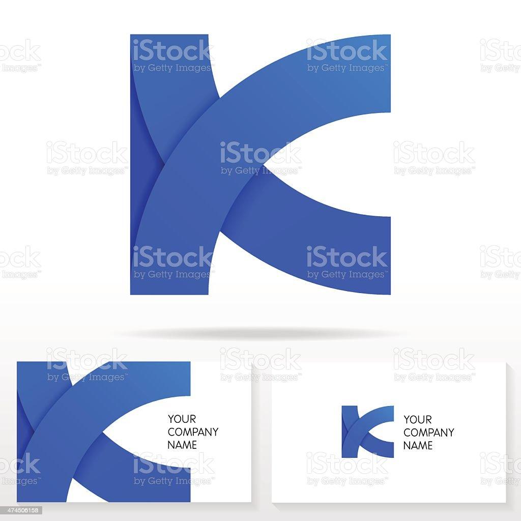Letter K logo icon design template elements - Illustration. vector art illustration