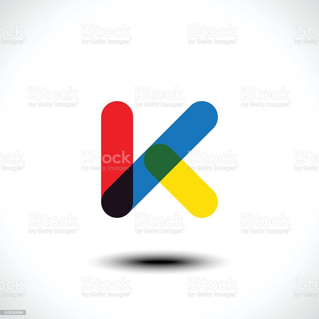 Letter K logo icon design template elements vector art illustration