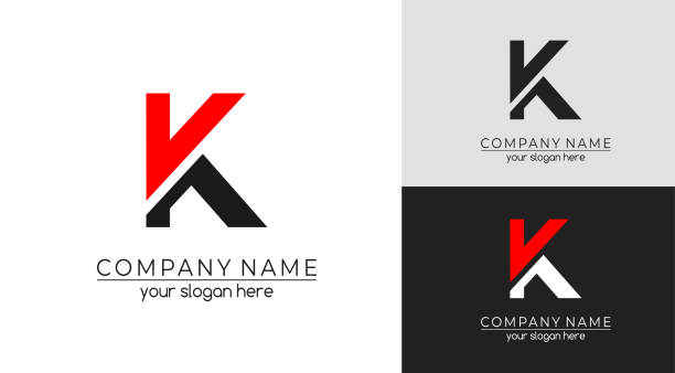 Letter K logo or monogram. blank for business card. For your business. Vector sign. Letter K logo or monogram. blank for business card. For your business. k logo illustrations stock illustrations