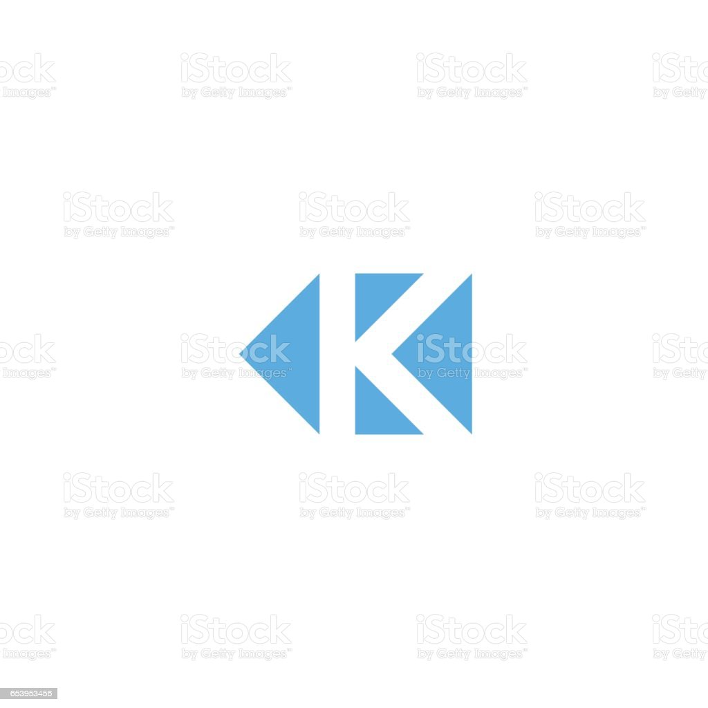 Letter K Logo Triangle Geometric Shape Minimal Style Design Element ...