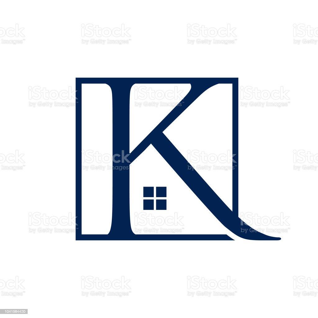letter k real estate logo design vector template royalty free letter k real estate logo