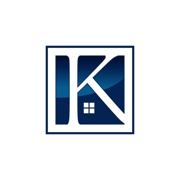 Letter K Real Estate logo design vector template Letter K Real Estate logo design vector template k logo stock illustrations