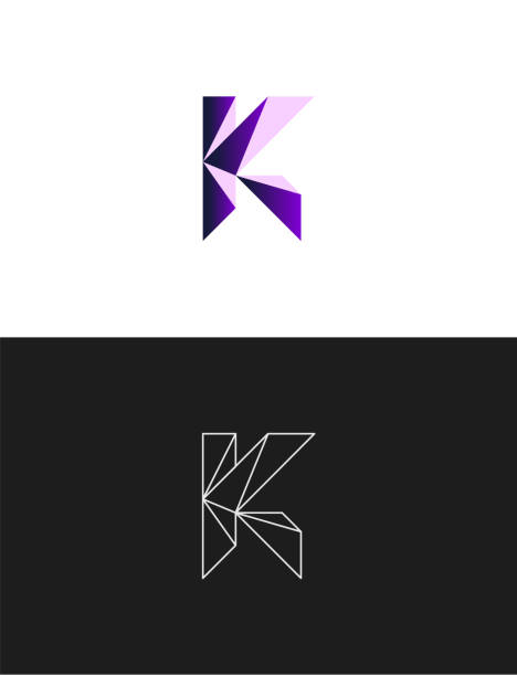 Letter K sign icon design template Letter K, Alphabet, Capital Letter, Internet, Symbol k logo illustrations stock illustrations