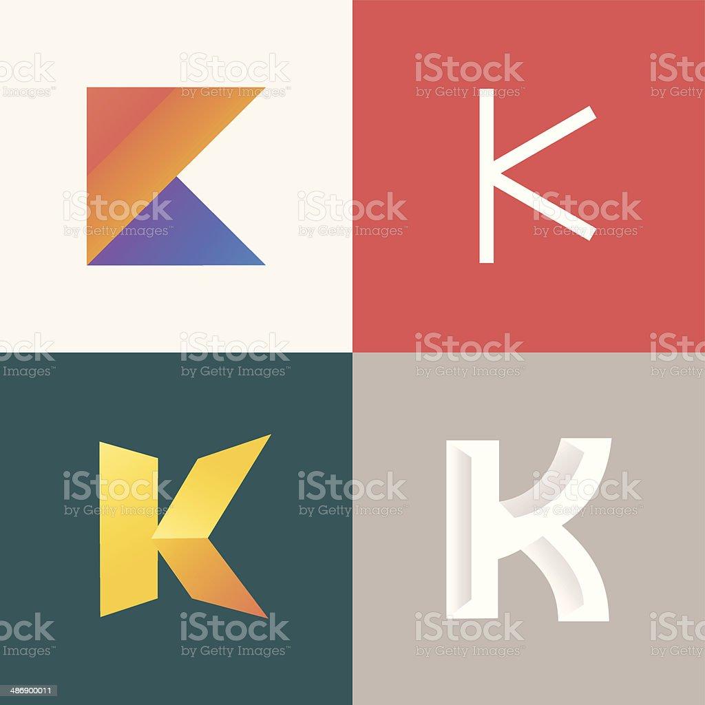 Letter K vector art illustration