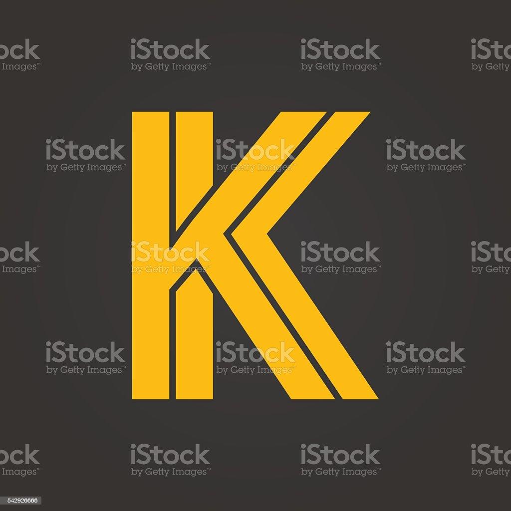 Letter K. vector art illustration