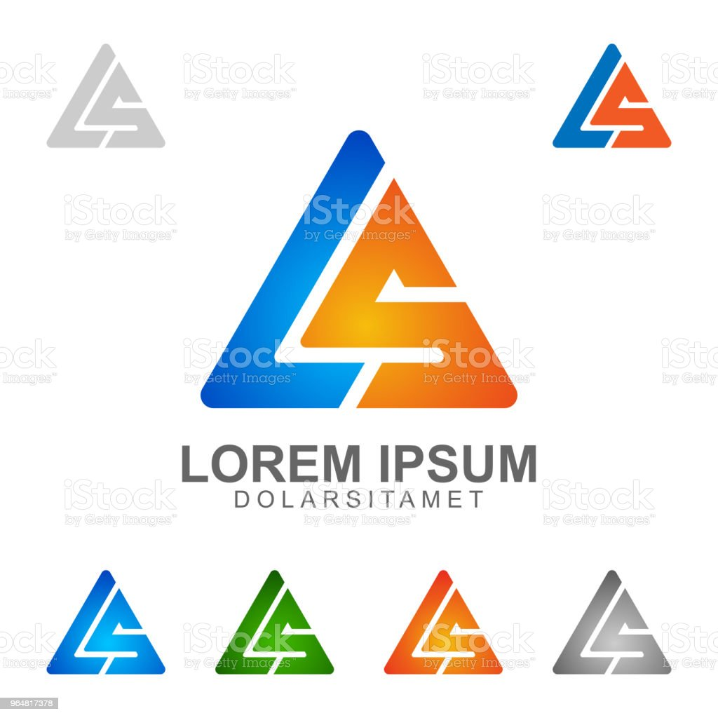 Letter L and S Concept with triangle style royalty-free letter l and s concept with triangle style stock illustration - download image now