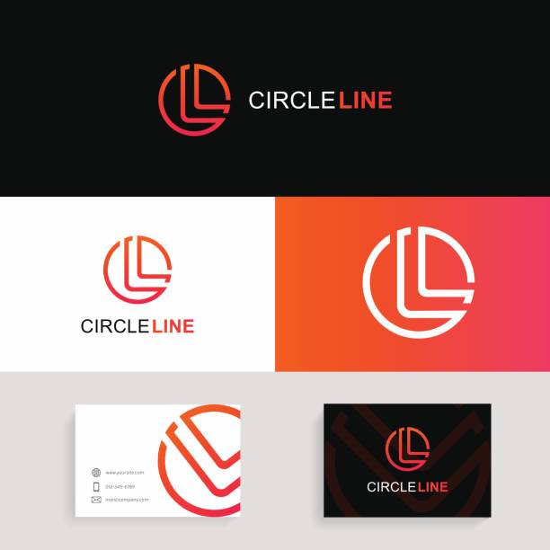 Letter L  icon circle sign vector design with brand business card. Letter L icon circle sign vector design with brand business card. letter l stock illustrations