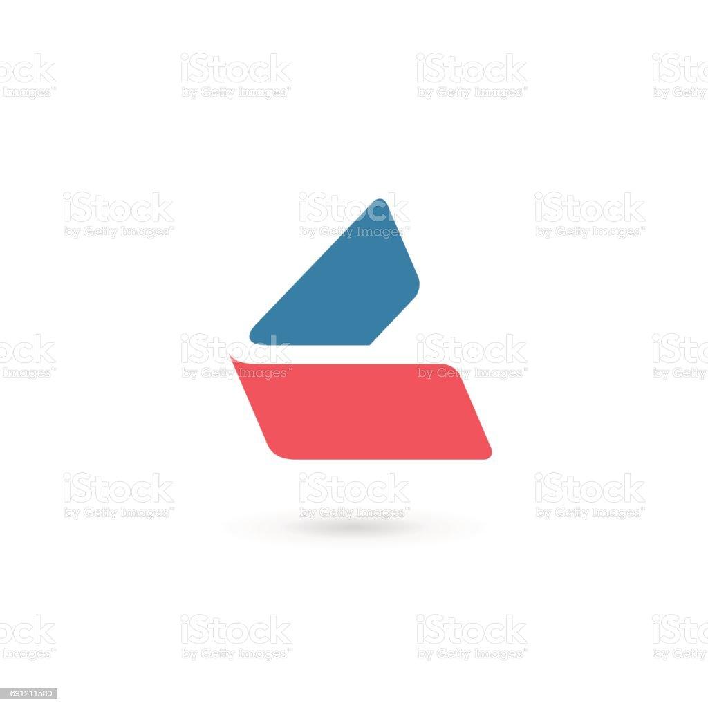 Buchstabe L emblem-Symbol – Vektorgrafik
