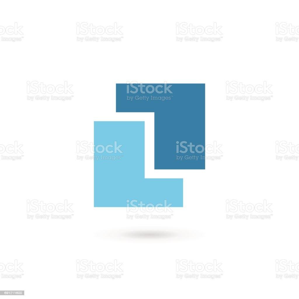 Letter L icon vector art illustration