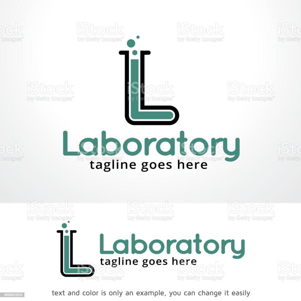 Ilustración de Letra L Laboratorio Símbolo Plantilla Diseño Vector ...